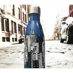 Starbucks S'well Kelsey Montague City Scene Blue Water Bottle