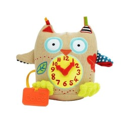Dolce My First Owl Clock Plush