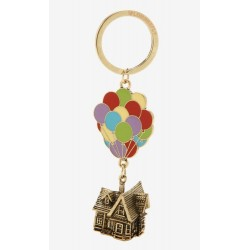 Disney Pixar Up Balloons 3D Metal Carl's House Keychain Key Ring