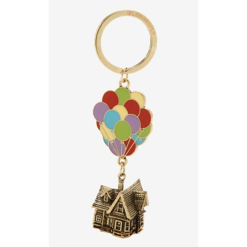 Disney Pixar Up Balloons 3D Metal Carl's House Keychain Key Ring