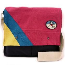 Disney Mickey Mouse Canvas Crossbody Briefcase Satchel Handbag Bookbag