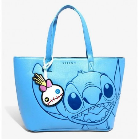 Loungefly Disney Lilo and Stitch Embossed Stitch Tote Bag