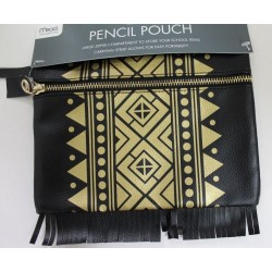 Mead Tribal Print Pencil Accessory Pouch Bag