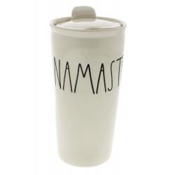 Rae Dunn Magante NAMASTE Travel Tumbler Mug