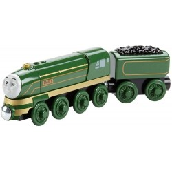 Thomas and Friends Wooden Railway Streamlined Emily Train Engine with Tender