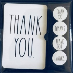 Rae Dunn Thank You Note Card Set