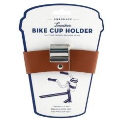 Kikkerland Leather Bike Cup Holder