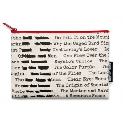 Out of Print Banned Books Everyday Pouch Purse