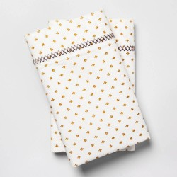 Opalhouse Gold Cotton Percale Set of 2 Pillowcases