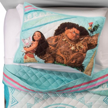 Disney Moana Blue Twin Full Quilt Set