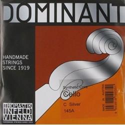 THOMASTIK Infeld Dominant Cello 4/4 C String 145A Medium Synthetic Core Silver Wound