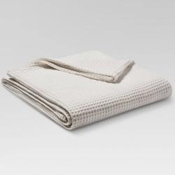 Threshold Waffle Weave White King Blanket