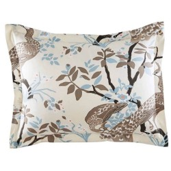 DwellStudio Peacock Dove 2 Standard Cream Pillow Shams