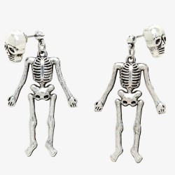 Dangle Skeleton Stud Earrings