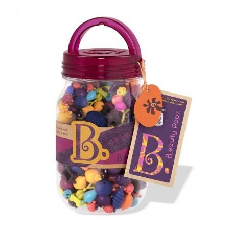 B. eauty Pops Jewelry-Making 275 Beads in Mason Style Jar
