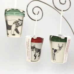 Starbucks Dear Bear Fox 2017 Christmas Holiday Ornaments
