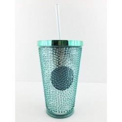 Starbucks Green Hobnail Cold Cup Tumbler 16 Fl Oz