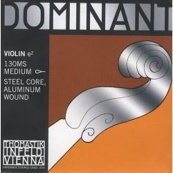 Thomastik Infeld Dominant Violin 4/4 E String 130MS Medium Steel Core Aluminium Wound