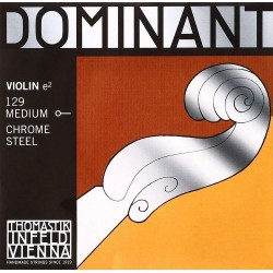Thomastik Infeld Dominant 4/4 Violin E String 129 Medium Chrome Steel Ball