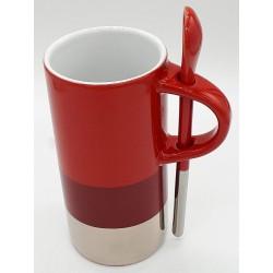 Starbucks Verismo 8 Fl Oz Mug with Red Silver Spoon