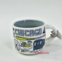 Starbucks Chicago Demitasse Mug Ornament Been There Series 2018
