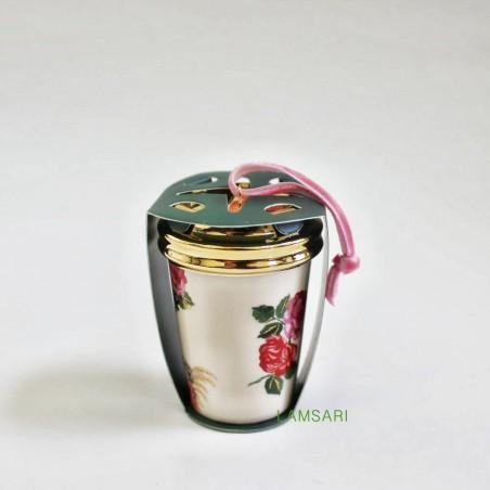 Starbucks Ban do Ceramic Floral Christmas Holiday Ornament