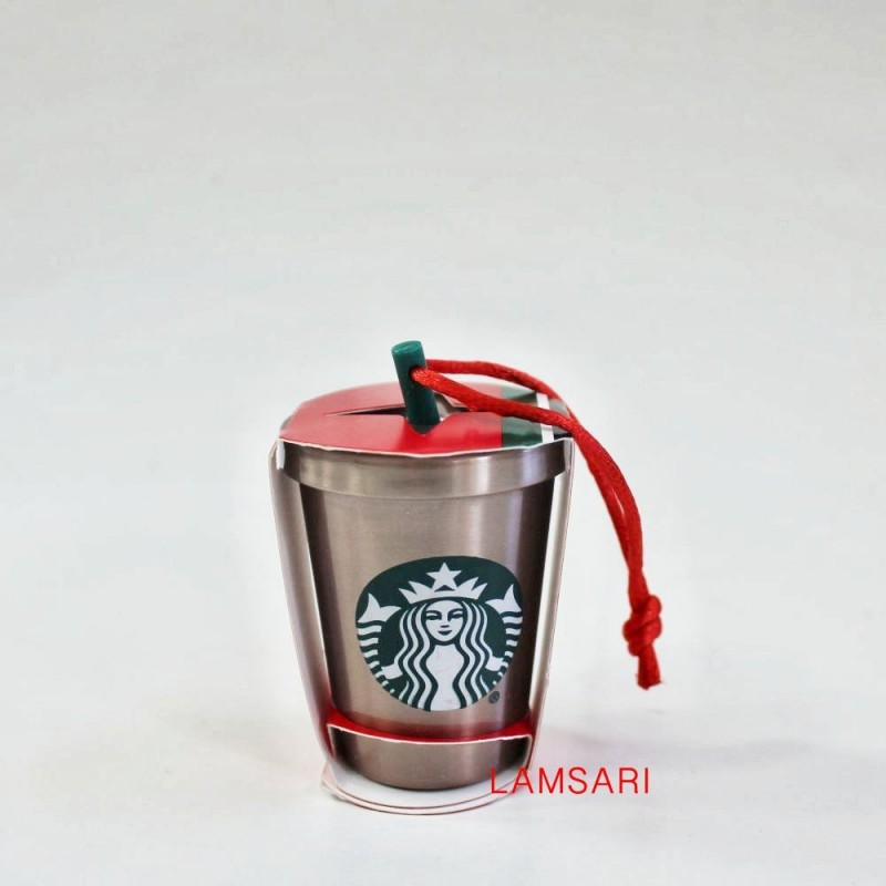 Starbucks Stainless Steel Cold Cup Christmas Holiday Ornament
