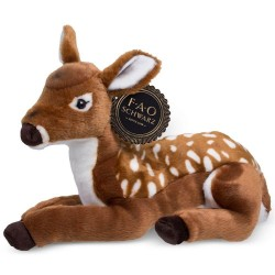 FAO Schwarz Brown Fawn Deer Toy Plush