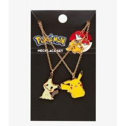 Loungefly Pokemon Pikachu & Mimikyu Best Friend Necklace Set