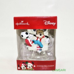 Hallmark Disney Mickey Mouse Soccer Christmas Tree Ornament