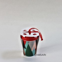 Starbucks 2017 Modern Trees Christmas Tree Ceramic Ornament