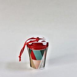 Starbucks 2017 Modern Trees Christmas Tree Ceramic Ornament