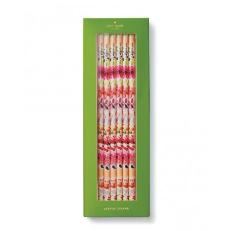 Kate Spade New York Set of 6 Reusable Dahlia Acrylic Straws