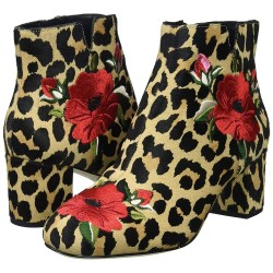 Kate Spade New York Vero Cuoio Women Langton Leopard Print with Embroidered Floral Design Boots Size US 7M