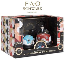 FAO Schwarz Nostalgic Model Remote Control Retro Bumper Car Set