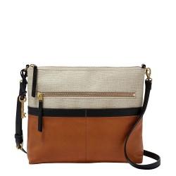 Fossil Fiona Colorblock Large Crossbody Bag