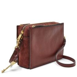 Fossil Campbell Henna Brown Crossbody Handbag Bag