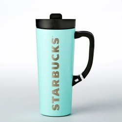 Starbucks Mint Green Stainless Steel Clip Tumbler 16 Fl Oz