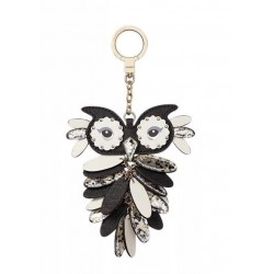 Kate Spade New York Leather Owl Bag Charm Keychain Key Fob