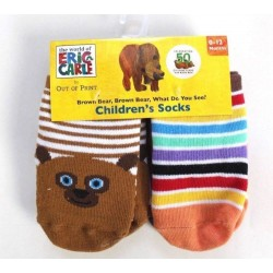 Eric Carle 4-Pack Brown Bear Children Socks Size 0-12M