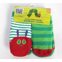 Eric Carle 4-Pack Very Hungry Caterpillar Children Socks Size 12-24M
