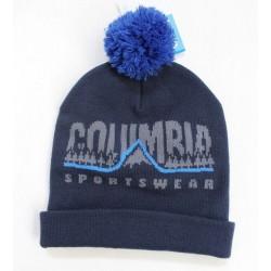 Columbia Sportswear Unisex Blue Winter Pompom Logo One Size Beanie Hat