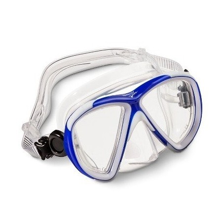Speedo Explorer Series Adult Dive Mask - Blue, Black