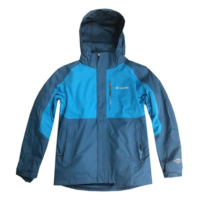 Columbia Sports Men Rural Mountan Interchange Omni Heat Teal blue Jacket Size M
