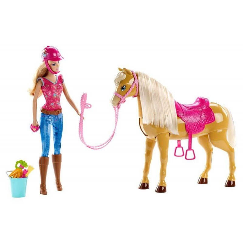 Barbie Feed and Cuddle Tawny Horse and Doll Playset