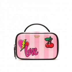 Victoria's Secret Pink Patch Small Train Case
