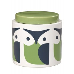 Orla Kiely Owl Green Stoneware Storage Jar