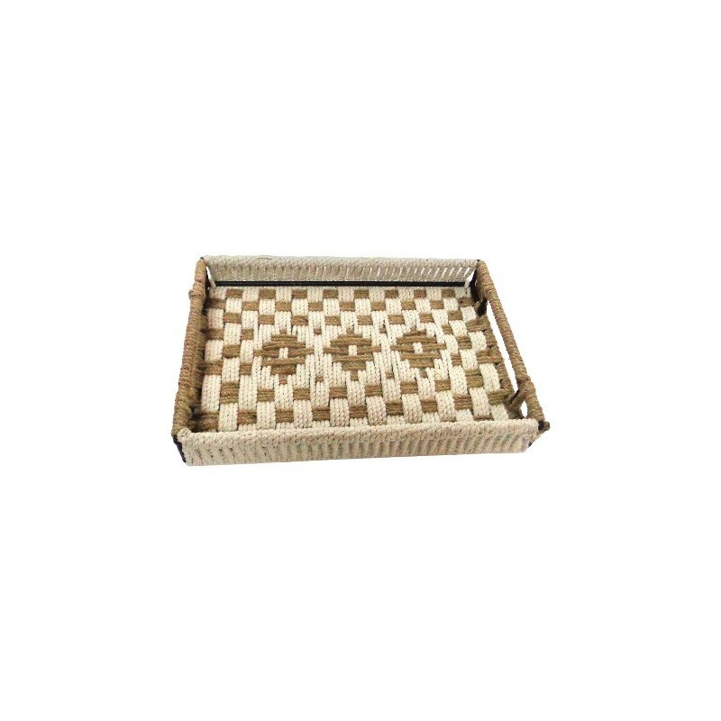 Nate Berkus Rope Woven Wrapped Tray - Tan