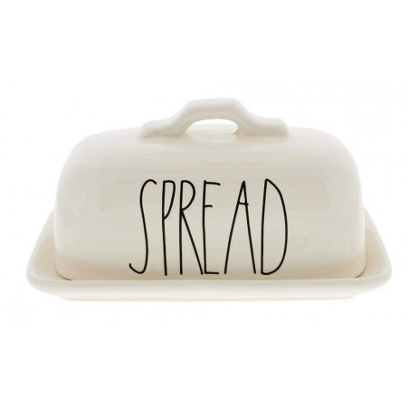 Rae Dunn Magenta Ceramic SPREAD Butter Dish