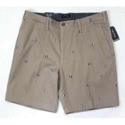 Nautica Men Fit Flat Front Stretch Short True Khaki Size 36